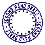 Schmutz BEHANDELT strukturierte SEKUNDEN-HAND rundes Stempelsiegel stock abbildung