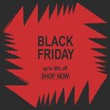 Schmutz Black Friday Rote Farbe der Verkaufsfahne angelt abstrakten Vektor der hellen Kieferzähne Stockfoto