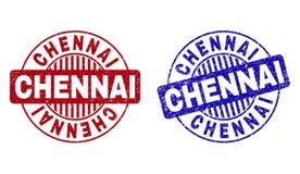 Schmutz CHENNAI verkratzte runde Wasserzeichen lizenzfreie abbildung