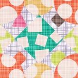 Schmutz-Designhintergrund mit geometrischen Formen vector Illustration Lizenzfreies Stockfoto