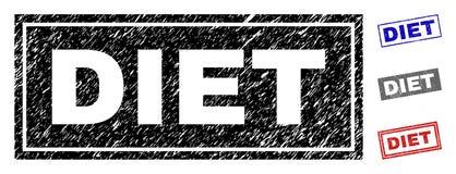 Schmutz-DIÄT verkratzte Rechteck-Wasserzeichen stock abbildung