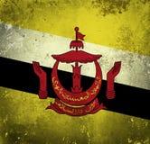 Schmutz-Flagge von Brunei lizenzfreie abbildung