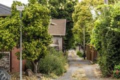 Schmutz-Gasse in Nord-Kalifornien stockfoto