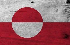 Schmutz-Grönland-Flaggenbeschaffenheits-, weiße und Rotefarbe mit einer counterchanged Scheibe etwas exzentrisch in Richtung zur  stock abbildung