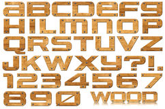 Schmutz-hölzerne Zeichen und Zahlen stock abbildung