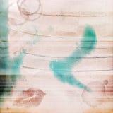 Schmutz-Hintergrund getragenes Blick-Lippenfleck-Rosa-Blau gemasert Lizenzfreie Stockfotos