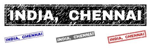 Schmutz INDIEN, CHENNAI maserte Rechteck-Wasserzeichen lizenzfreie abbildung