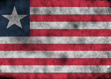 Schmutz-Liberia-Flagge Lizenzfreie Stockfotografie