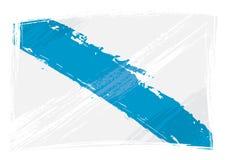 Schmutz malte Galizien-Gemeinschaftsflagge lizenzfreies stockfoto