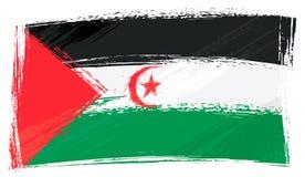 Schmutz malte Westsahara-Flagge stockbild