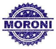 Schmutz maserte MORONI Stamp Seal stock abbildung