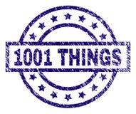 Schmutz maserte 1001 SACHEN Stempelsiegel lizenzfreie abbildung