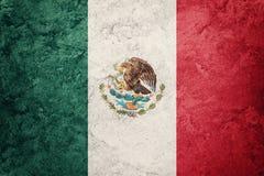 Schmutz-Mexiko-Flagge Mexikanische Flagge mit Schmutzbeschaffenheit Lizenzfreies Stockfoto