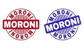Schmutz MORONI Textured Round Stamps stock abbildung