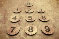 Schmutz nummeriert Hintergrund Stockbild