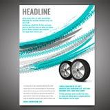 Schmutz-Reifen-Plakat Lizenzfreie Stockfotografie