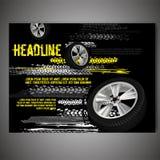 Schmutz-Reifen-Plakat Lizenzfreies Stockbild