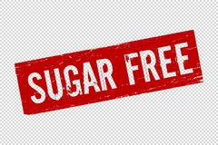 Schmutz-roter Sugar Free-Quadratgummi lizenzfreie abbildung