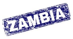 Schmutz SAMBIA gestaltete gerundeten Rechteck-Stempel vektor abbildung