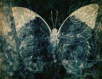 Schmutz-Schmetterlingshintergrundbeschaffenheit Lizenzfreies Stockbild