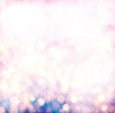 Schmutz-Silber, Gold, rosa Weihnachtslicht Bokeh Stockbild