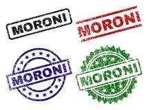 Schmutz strukturierter MORONI Seal Stamps stock abbildung