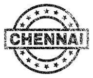 Schmutz strukturiertes CHENNAI-Stempelsiegel stock abbildung