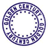 Schmutz strukturiertes GOLDENES JAHRHUNDERT rundes Stempelsiegel stock abbildung