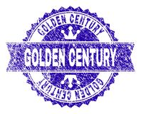 Schmutz strukturiertes GOLDENES JAHRHUNDERT Stempelsiegel mit Band lizenzfreie abbildung