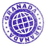 Schmutz strukturiertes GRANADA-Stempelsiegel vektor abbildung