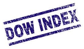 Schmutz Textur-Dow-INDEX Stempelsiegel lizenzfreie abbildung