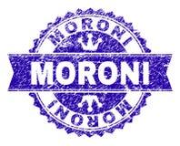 Schmutz Textur-MORONI Stamp Seal mit Band lizenzfreie abbildung