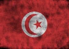 Schmutz-Tunesien-Flagge Lizenzfreie Stockfotografie