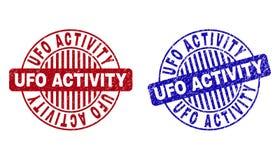 Schmutz UFO-T?TIGKEIT maserte runde Stempelsiegel lizenzfreie abbildung