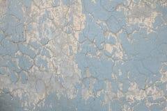 Schmutz und alte gemalte blaue Wand Lizenzfreies Stockfoto