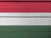 Schmutz-Ungarn-Flaggenbeschaffenheit, eine horizontale Trikolore von Rotem, von weißem und von Grünem stock abbildung