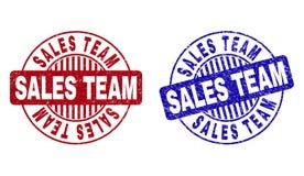 Schmutz VERKÄUFE TEAM Textured Round Stamp Seals stock abbildung