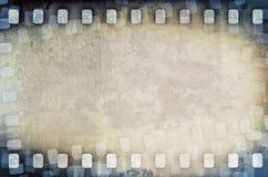 Schmutz verkratzter Filmstreifenhintergrund Lizenzfreies Stockbild