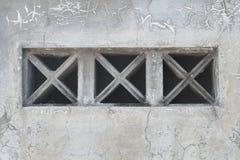 Schmutz-Wand-Beschaffenheiten mit Belüftungs-Block Stockfoto