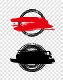 Schmutz weg vom Straßen-Reifen-Stempel Lizenzfreie Stockfotografie