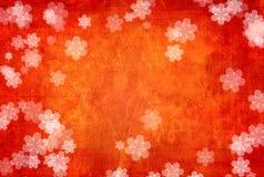 Schmutz-Weihnachtshintergrund mit Schneeflocken Stockfotografie