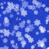 Schmutz-Weihnachtshintergrund mit Schneeflocken Stockfoto