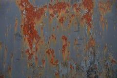 Schmutz-Weinlese-Metall Rusty Texture - befleckter Hintergrund - Vorlage Stockfoto