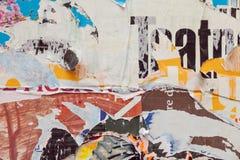 Schmutz zerrissenes Plakat Stockfotos