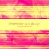 Schmutzaquarell-Kartendesign vektor abbildung