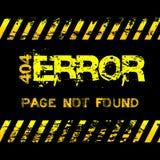 Schmutzart-Gelbvorsicht der Seite nicht nimmt gefundene - Fehler - Illustration auf Lizenzfreies Stockbild