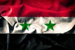 Schmutzart von Syrien-Flagge stockfotos