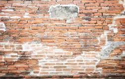 Schmutzbacksteinmauer-Beschaffenheitshintergrund mit Weinlese und Vignette t Lizenzfreies Stockfoto