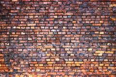 Schmutzbeschaffenheit der Maurerarbeit, Backsteinmauerhintergrund Stockfotos