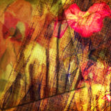 Schmutzblumenkartendesign lizenzfreie abbildung
